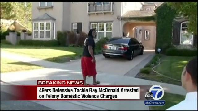SJ police arrest 49ers' McDonald on domestic violence charges
