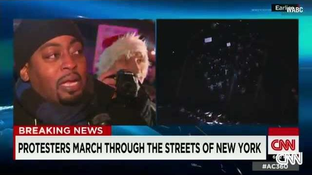 Eric Garner Protest – Protester Cry and Emotional When Interviewed by CNN